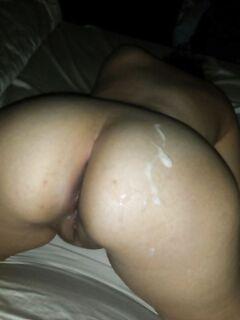 Подборка задниц девушек обильно политых спермой