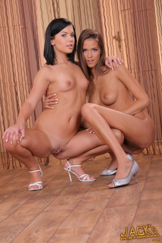 Сексапильным девушки позируют голыми для селфи