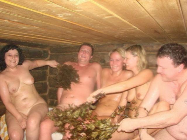 Друзья решили попариться в баньке