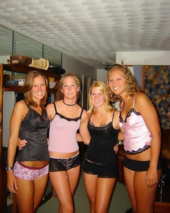 Пьяные девушки перевели девичник в настоящий разврат