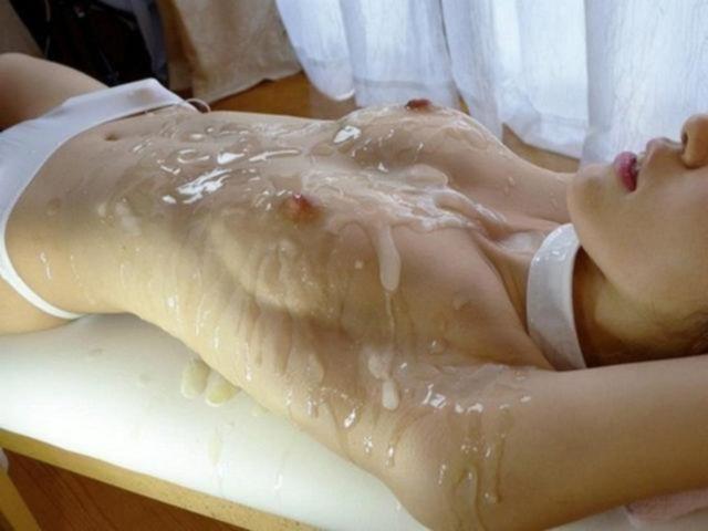 Мужская сперма на писях и на лицах